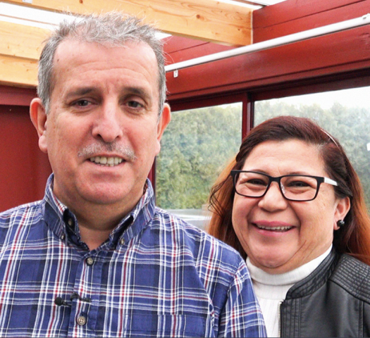 Mauricio och Silvia Sanchez, familjehemsföräldrar och medverkande i Familjehemsboken
